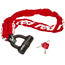 Red Cycling Products High Secure Chain Plus Kabellås rød
